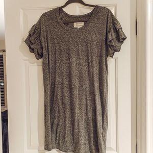 Current/Elliott Ruffle Sleeve Dress
